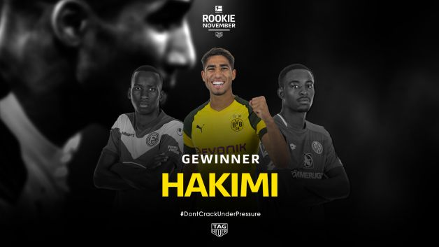 BVB-Youngster Achraf Hakimi gewinnt den Bundesliga Rookie Award by TAG Heuer im November